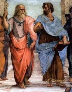 plato and aristotle 237x300 Aristotle vs. Plato view of 'substance'