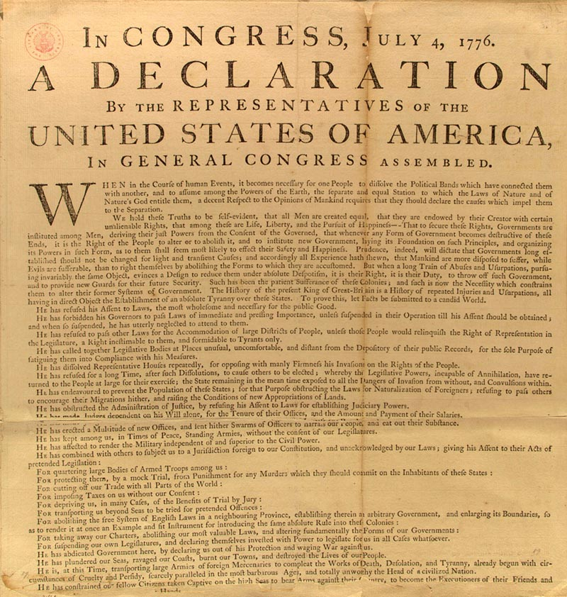 the separation from england and the declaration of independence for the three major purposes The 1776 declaration of american independence from england - the declaration of  draft of the constitution for purposes of  major problem became known as the.
