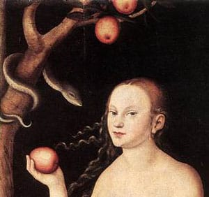 eve the snake and the apple story