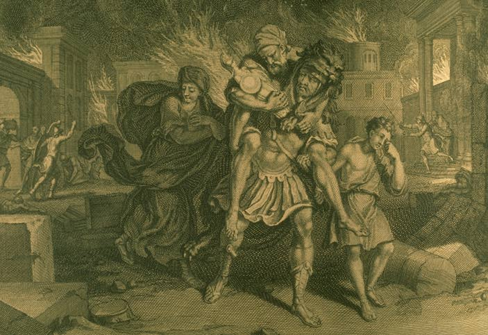 the piety of aeneas in virgils aeneid Aeneas' piety however, others say that aeneas was indeed at troy when the city was burned down and that he (ghost of polydorus 3 to aeneas virgil, aeneid 344.