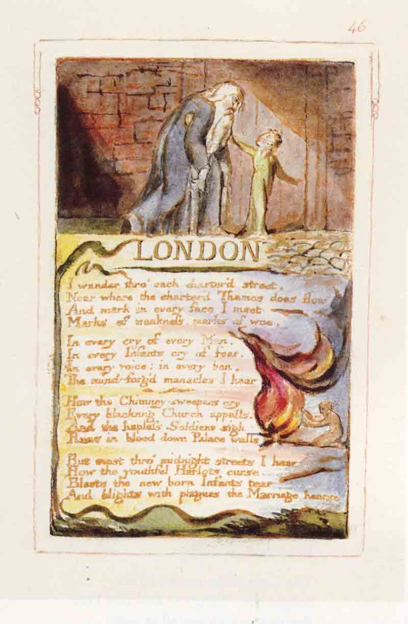 william blake s london The contrast is blake's method of social protest a less common view, espoused by harold bloom,  william blake london.