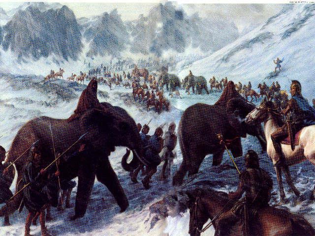 Hannibal, la terreur de Rome Hannibal-The-Carthaginian-The-Alps