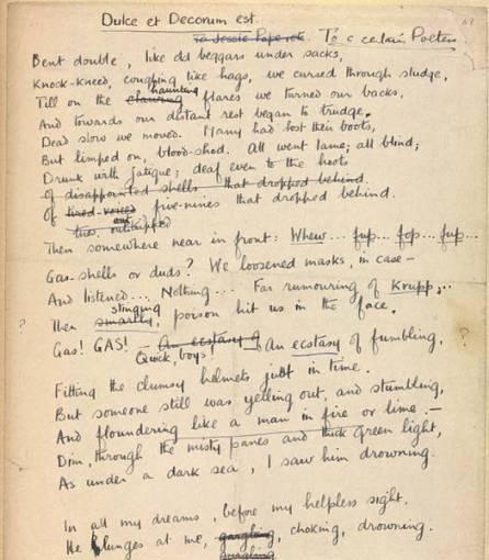 Wilfred Owen Dulce Et Decorum Est Poem