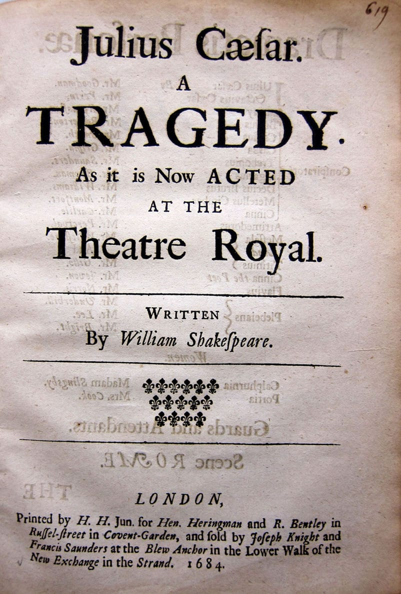 an analysis of the tragedy of julius caesar a play by william shakespeare Julius caesar by william shakespeare is a tragedy that sets forth in rome around 44 bc as all shakespearean tragedies, julius caesar includes a tragic hero whose predetermined fate and hamartia bring about his downfall and in doing so, bring catharsis and poetic justice to the reader.